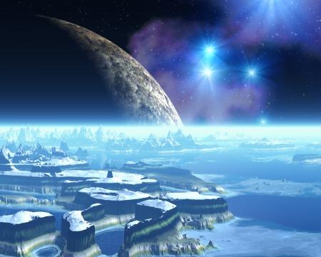 Ice Planet Extranjero Foto de archivo
