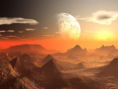 Valley of the Alien Kings  Foto de archivo