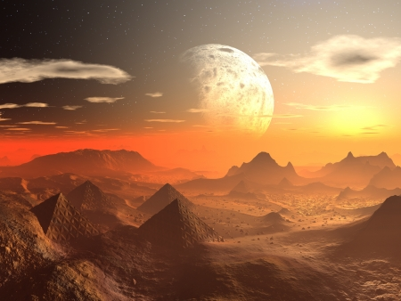 Valley of the Alien Kings  Stock Photo