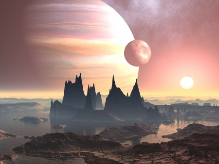 Twin Moons over Planet Europa