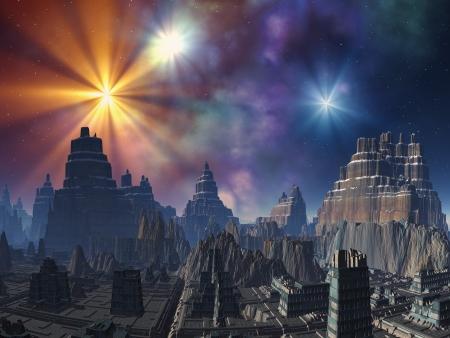 Deserted Alien City