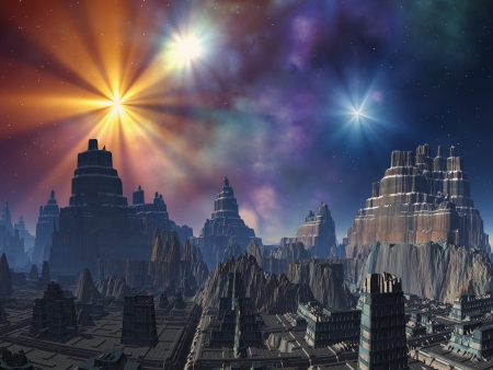 fantasy fiction: Deserted Alien City