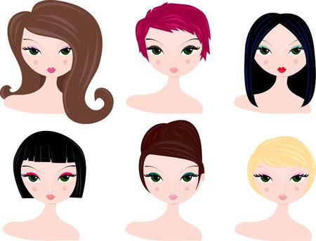 pelo ondulado: Seis diferentes peinados y colores de pelo para las mujeres.