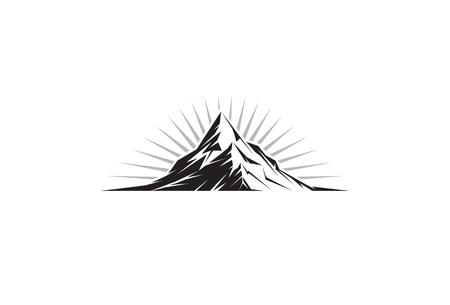 высокогорный: Иллюстрация вершине горы силуэт