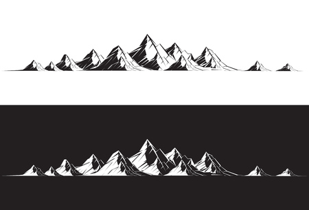 산맥: Illustration of a mountain range