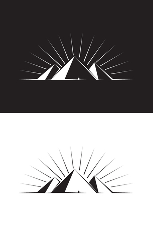 Illustration of three Pyramids Vector