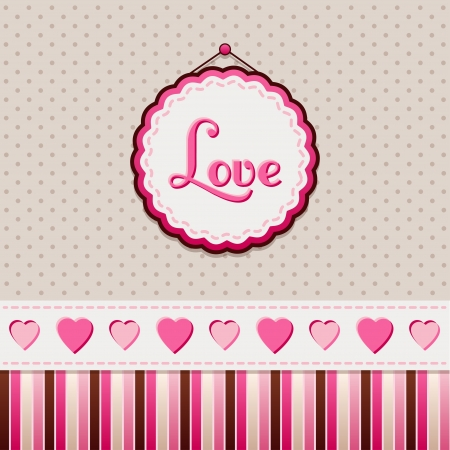 valentine s day background: Greeting card  Love