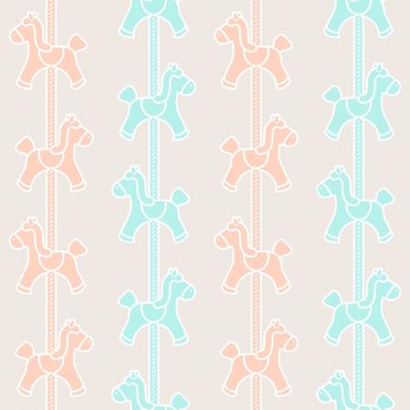 カルーセル装飾とシームレスなパターン