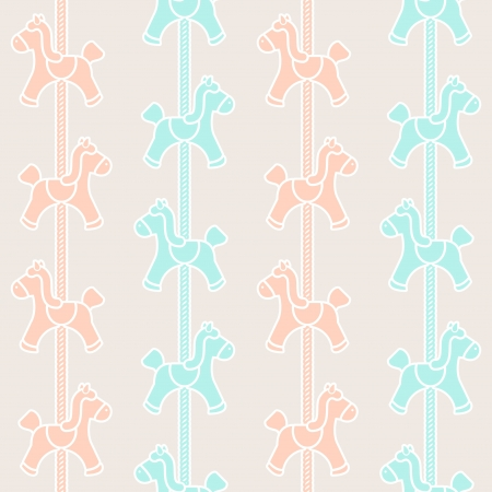 carousel horse: Pattern seamless with carousel decoration