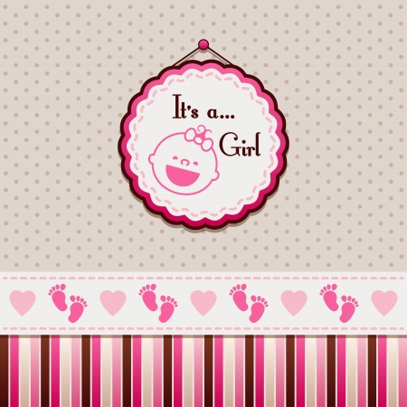 It is a girl background Stock Vector - 20414244