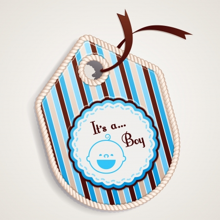 Label about  It is a boy  Illustration