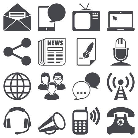 Icons set: Communication