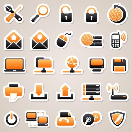 Orange computer stickers