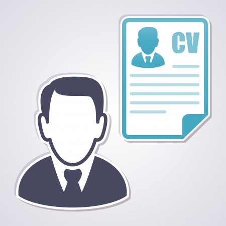 work experience: Businessman with a curriculum vitae