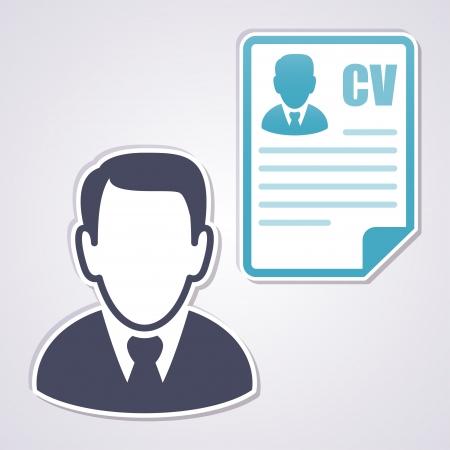 curriculum vitae: Businessman with a curriculum vitae