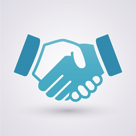 business partnership:  Handshake icon