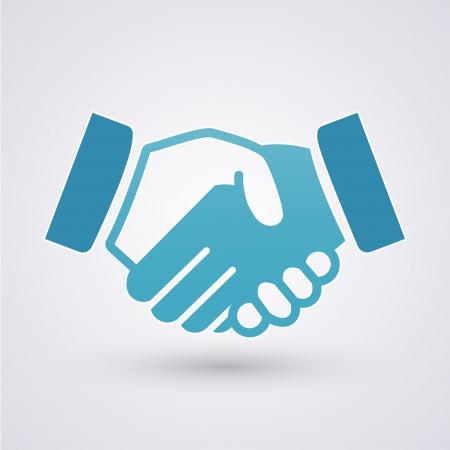 podání ruky: Ikona Handshake Ilustrace