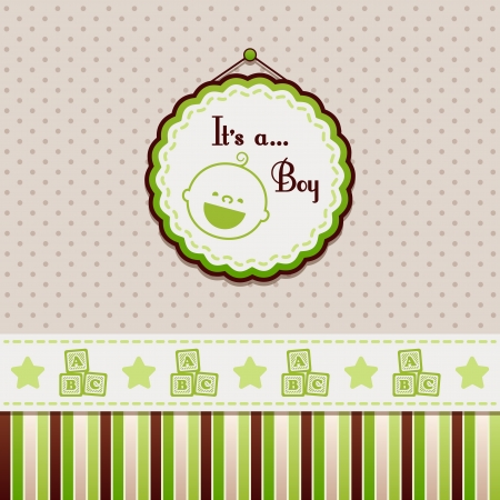 green it: It is a boy green background Illustration