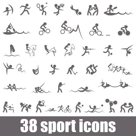 natación sincronizada: Deportes iconos Vectores