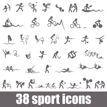 slalom: Sports icons Illustration