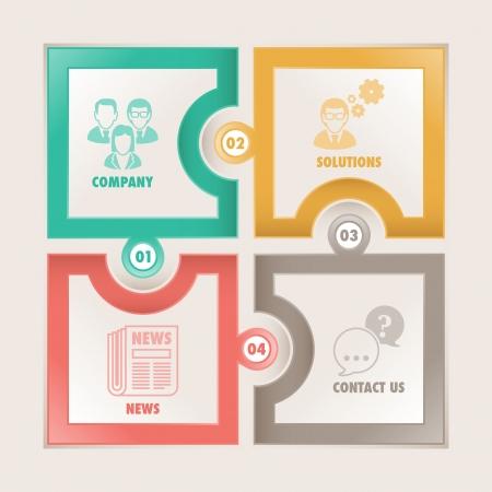 Infographics options banner Ilustração