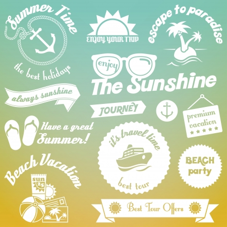 sunscreen: Summer elements design Illustration