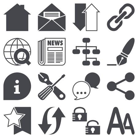 Icons set  Web