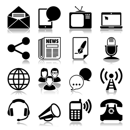 Icons set: Communication