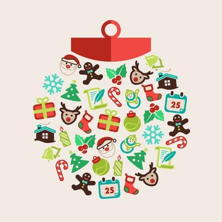velas de navidad: Fondo de Navidad con una bola de Navidad
