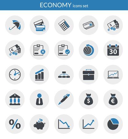 サークル内部経済のフラット アイコンについてのアイコンを設定します。