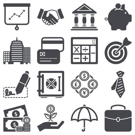 Icons set about finance concept