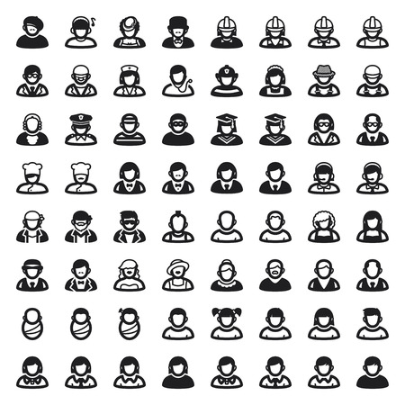 Set van vlakke pictogrammen over mensen Avatar Stockfoto - 23660465