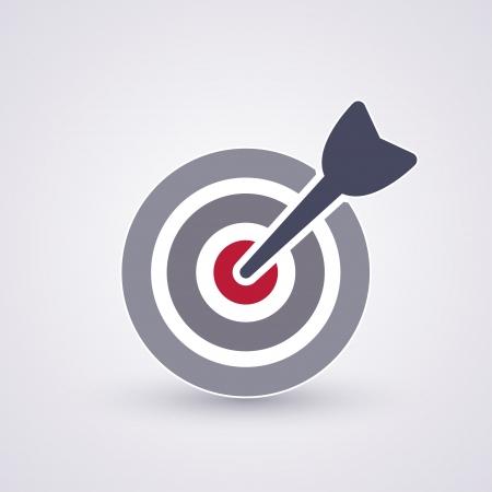 Een dart is in het centrum van een dartboart Target-concept Stockfoto - 23660478