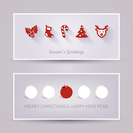 Banners. Greeting card. Christmas and New Year Vector