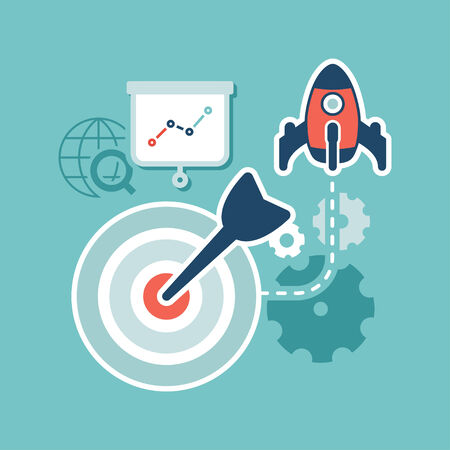 フラットなデザイン Web マーケティング検索エンジン最適化