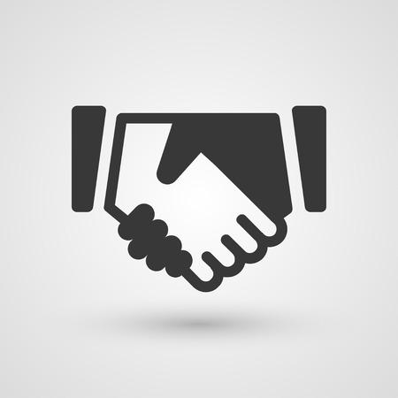 professional relationship:  Black handshake icon