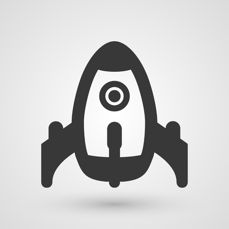taking off: Black rocket taking off. Background about business launch. Start up.