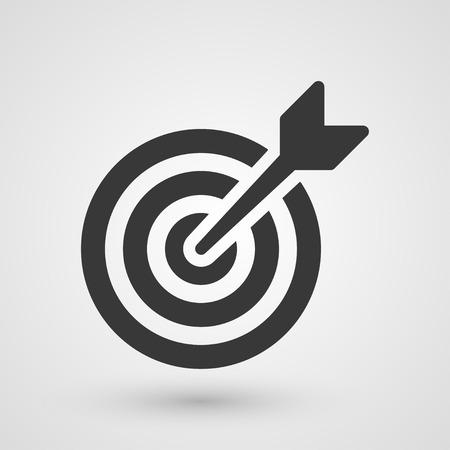 Zwarte doel. Icoon over bedrijfsstrategieën concept. Stockfoto - 31960832