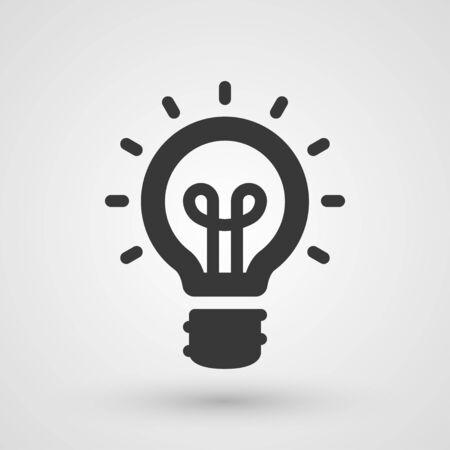 creativity concept: Black idea icon. Innovation and creativity concept Illustration