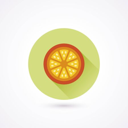 citric: Orange flat icon in a circle