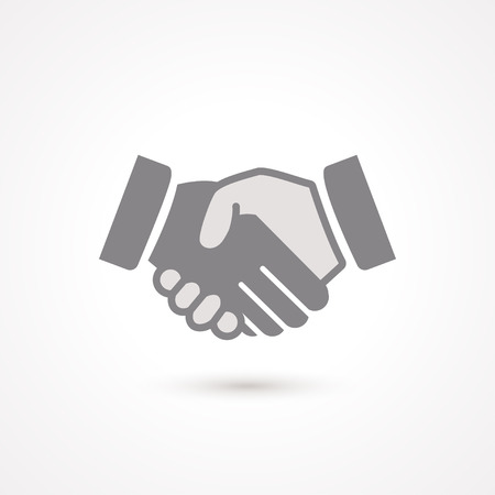 business partnership: Handshake black  icon, symbol about business deal