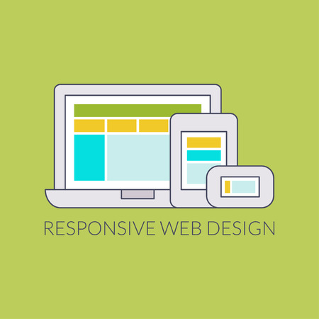 Responsive web design for all devices. Flat design