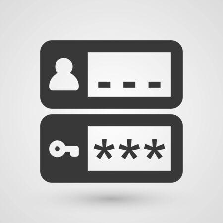 passwords: Black login icon. Symbol about web concept.