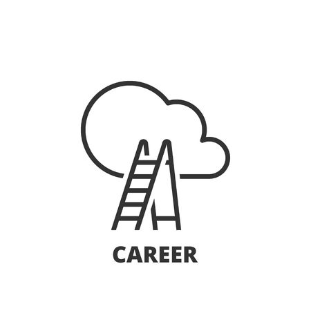careers: Thin line icon. Flat symbol about business. Career Illustration