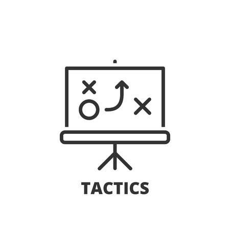 tactic: Thin line icon. Flat symbol about business. tactics Illustration