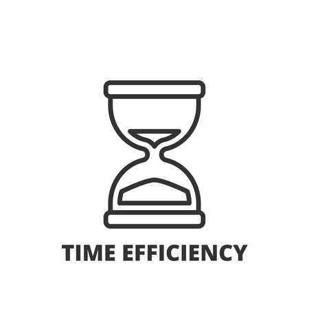 business time: Thin line icon. Flat symbol about business. time efficiency