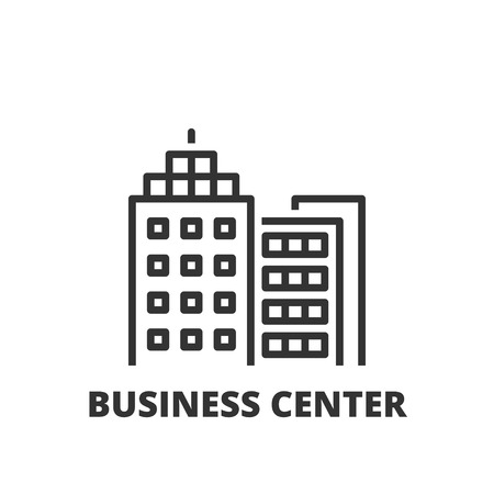 business center: Thin line icon. Flat symbol about business. business center