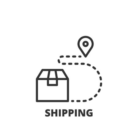 Thin line icon. Flat symbol about shipping