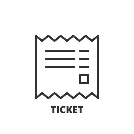 invoices: Thin line icon. Flat symbol about shopping. Ticket
