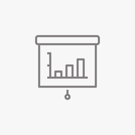 statistics icon: Statistics. Thin line icon. Flat symbol about business. .